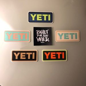 YETI-  6 pack of stickers